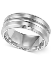 Triton Men's Stainless Steel Ring 8Mm Wedding Band