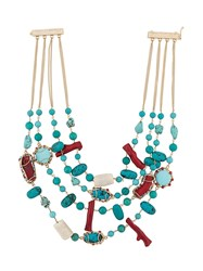 Rosantica Layered Beaded Necklace Blue