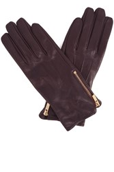 Oasis Zip Leather Gloves