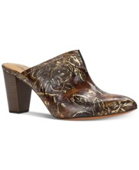 361e8539ac6 Ruffina Mules A Macy's Exclusive Style Women's Shoes Chocolate Gold Bark  Leaves