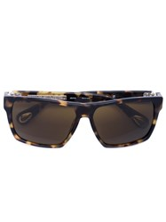 Linda Farrow Square Frame Sunglasses Brown