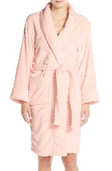 Women's Daniel Buchler Chevron Plush Robe Pink