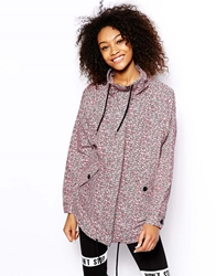 Monki Ditsy Print Rain Mac Multi