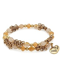 Alex And Ani Fate Terra Wrap Bracelet Orange Gold