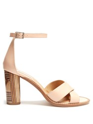 Gabriela Hearst John Leather Sandals Nude Multi