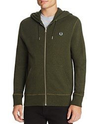 Fred Perry Loopback Hooded Sweatshirt British Racing Green