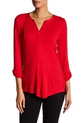 Nydj Pleated Back Blouse Red