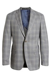 Hart Schaffner Marx Big And Tall Classic Fit Plaid Wool Sport Coat Grey