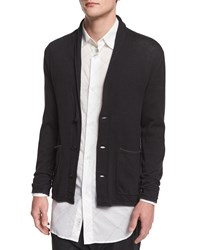 Rag And Bone Lee Shawl Collar Knit Cardigan Black