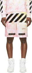 Off White Ssense Exclusive Red And Orange Tie Dye Shorts