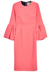 Roksanda Ilincic Margot Coral Bell Sleeve Dress Pink