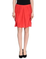 Gattinoni Knee Length Skirts Red