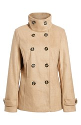 Thread And Supply Double Breasted Peacoat Camel