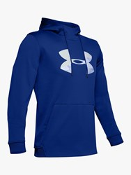 Under Armour Fleece Big Logo Graphic Training Hoodie Royal Mod Grey