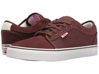 Vans Chukka Low French Roast White Red Men's Skate Shoes Brown