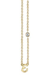 Shy By Se 'S Diamond Initial Pendant Necklace Gold E