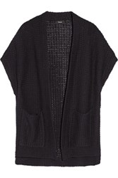 Theory Fremont Ibisco Knitted Cotton Cardigan Midnight Blue