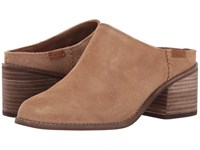 Toms Leila Mule Toffee Suede Women's Clog Shoes Brown