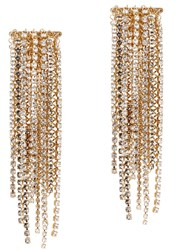 Lanvin Fringed Clip On Earrings Gold