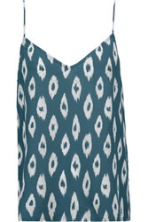 Equipment Layla Printed Washed Silk Camisole Petrol