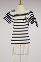 J.W.Anderson Striped Knot T Shirt Navy Off White
