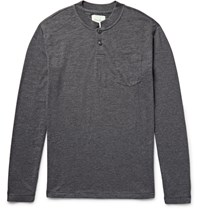 Steven Alan Melange Cotton Jersey Henley T Shirt Gray