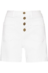 M Missoni Denim Shorts White