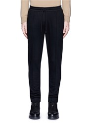 Scotch And Soda Pleated Wool Blend Jogging Pants Black