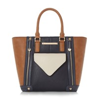 Head Over Heels Harrie Winged Pocket Front Shopper Bag Navy