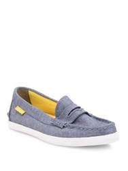 Cole Haan Pinch Weekender Canvas Loafers Sky Blue
