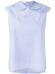 Societe Anonyme Small Circles Blouse Blue