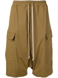 Rick Owens Elasticated Waist Shorts Brown