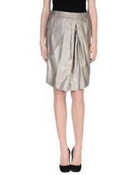 Pauw Knee Length Skirts Silver