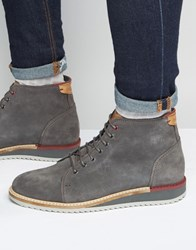 Ted Baker Odaire Suede Wedge Boots Grey