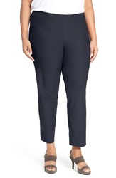 Eileen Fisher Plus Size Women's Washable Stretch Crepe Slim Leg Ankle Pants Midnight