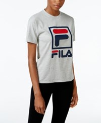 Fila Kate Logo T Shirt Light Grey