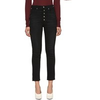 Citizens Of Humanity Black Olivia High Rise Exposed Fly Jeans