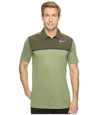 Nike Mobility Precision Polo Palm Green Cargo Khaki Black Flat Silver Men's Short Sleeve Pullover