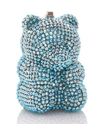 Judith Leiber Gummy Teddy Bear Pillbox Light Blue