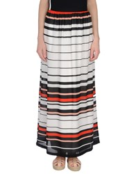 Anonyme Designers Long Skirts White