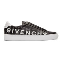 Givenchy Black And White Embroidered Urban Street Sneakers