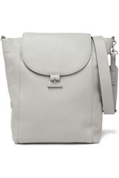 Halston Pebbled Leather Shoulder Bag Stone