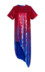 Monse All Over Sequin Drip Tunic Red