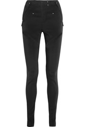 Cutout Stretch Cady Skinny Pants Black