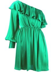 Msgm Ruffled Detail Dress Green