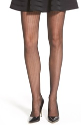 Vince Camuto Pinstripe Tights Black