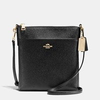 Coach Courier Crossbody In Crossgrain Leather Light Gold Black