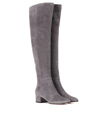 Gianvito Rossi Rolling Mid Suede Over The Knee Boots Grey