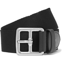 Mulberry 3Cm Black Canvas And Leather Belt Black