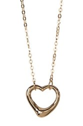 Bony Levy 14K Yellow Gold Open Heart Pendant Necklace Metallic